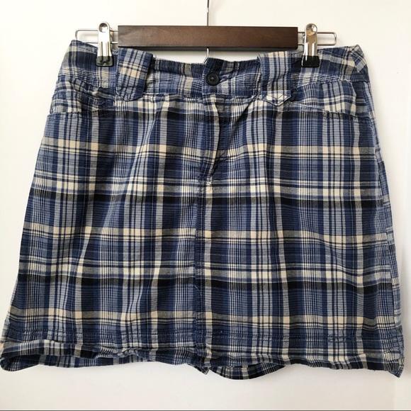 St. John's Bay Pants - St. John's Bay Blue Plaid Skort • Size 10